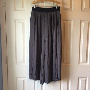 Anthro Flowy wide-leg pants